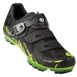 photo_Pearl Izumi X Project 1.0 MTB shoes Black Green fluo