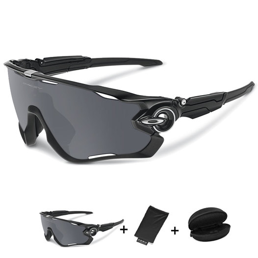 photo Oakley Jawbreaker sunglasses Polished Black Black Iridium ... 1037710af3c