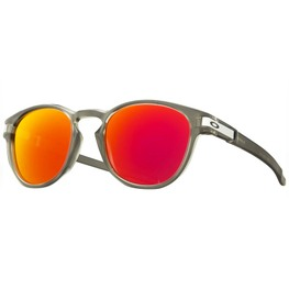 photo_Oakley Latch sunglasses Matte Grey Ink Ruby Iridium