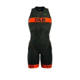 photo_Ale Tri Record trisuit zip front Black Orange fluo