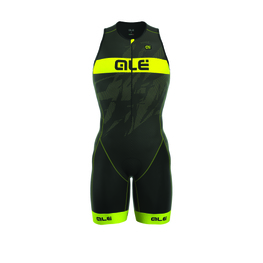 photo_Ale Tri Record trisuit zip front Black Yellow fluo