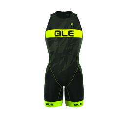 photo_Ale Tri Record trisuit zip back Black Yellow fluo