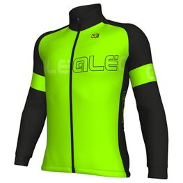 photo_Ale Solid block jacket Black Green fluo