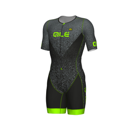 photo_Ale Long Tri Kilawea SS trisuit zip front Black Green fluo