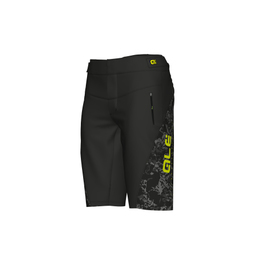 photo_Ale Enduro Racing shorts Black + padded liner shorts